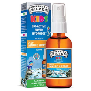 Sovereign Silver Bio-Active Silver Hydrosol for Kids Immune Support Fine Mist