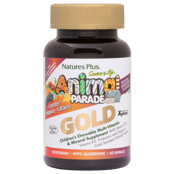 Animal Parade Gold Children's Chewable Multivitamin Assorted Flavors 60 ct