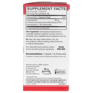 Extra Strength Ashwagandha by Terry Naturally Supplement Facts