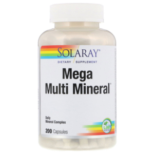 Solaray Mega Multi Mineral 200 ct