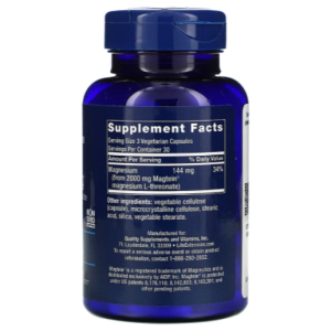 Neuro Mag Life Extension L-Threonate supplement facts