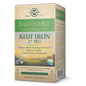 Earth Source Koji Iron by Solgar 27 mg 30 veg caps All in One Vitamins Fayetteville GA