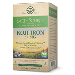Solgar Earth Source Koji Iron 27mg 60 veg caps All in One Vitamins Fayetteville GA
