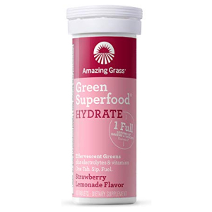 Amazing Grass Effervescent Tablets Strawberry Lemonade 10 Count All in One Vitamins Fayetteville GA