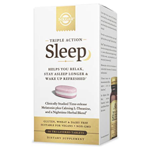 Melatonin with Theanine | Solgar Triple Action Sleep All in One Vitamins Fayetteville GA