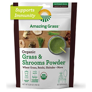Amazing Grass Greens & Shrooms Smoothie Booster All in One Vitamins Fayetteville GA