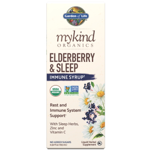 mykind Organics Elderberry & Sleep Immune Syrup 6.95 fl oz (195ml) Liquid
