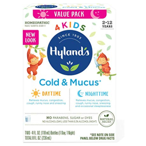 Hyland's 4Kids Cold and Mucos Day and Night Value Pack Hyland's