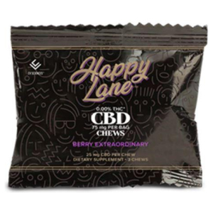 Happy Lane CBD Chews 25 mg 3 ct