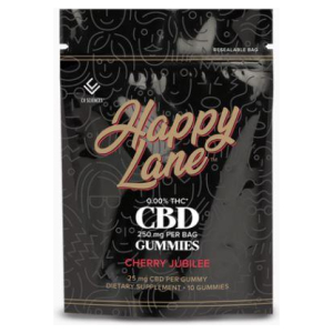 Happy Lane CBD Gummies Cherry Jubilee 25 mg 10 ct