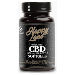 HAPPY LANE CBD SOFTGEL CAPSULE  25 mg 60 ct