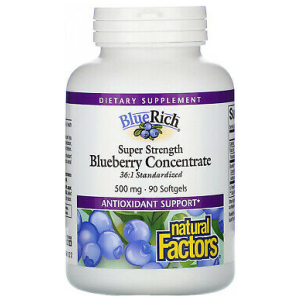 Natural Factors BlueRich Blueberry Concentrate 500 mg