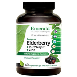 Emerald Labs Elderberry 500mg with Zinc and Pure Vitamin C