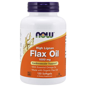 Now Flax Oil 1000 mg 120 Softgels