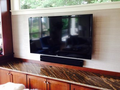 "65"" TV with Klipsch Soundbar"