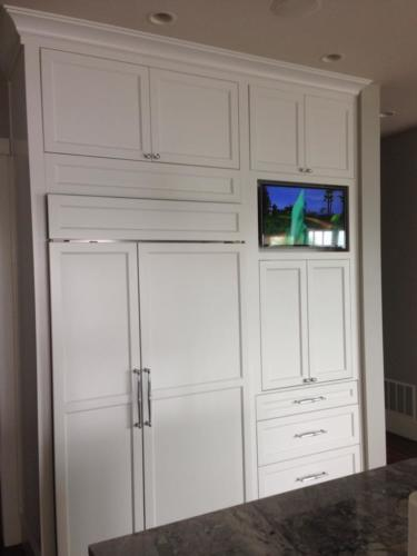 Built in TV in Kitchen Cabinet
