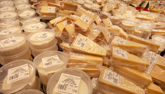 European deli cheeses