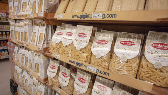 Imported foods pastas