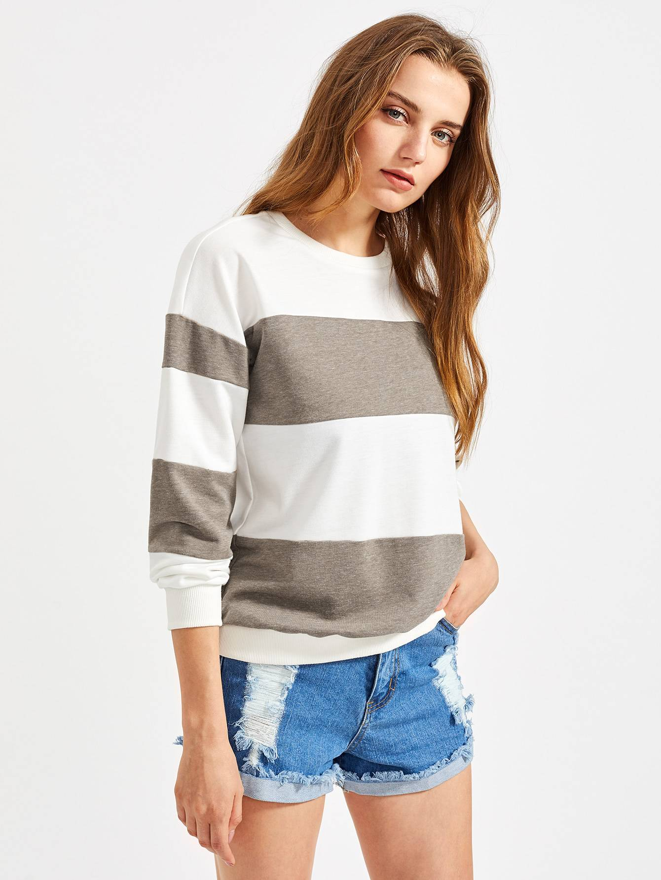 SHEIN CUT AND SEW PULLOVER ($16)