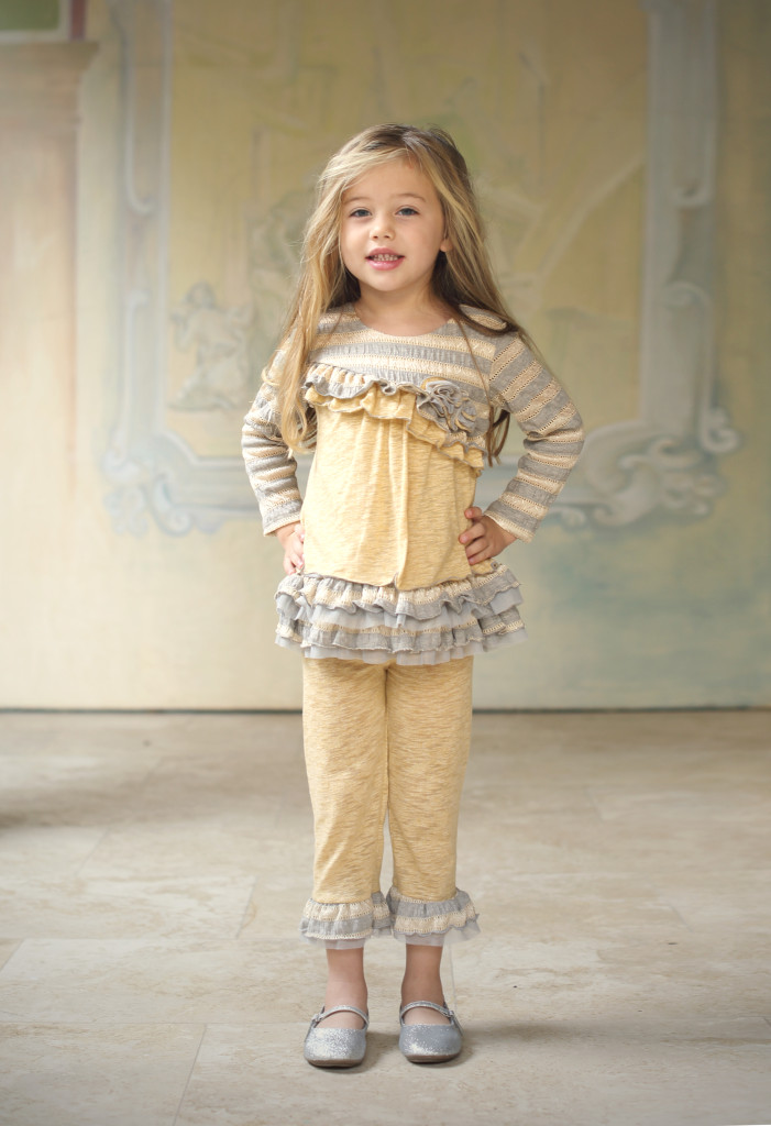 Butterscotch two-piece set, style 9072YW, available in size 12M-6X.