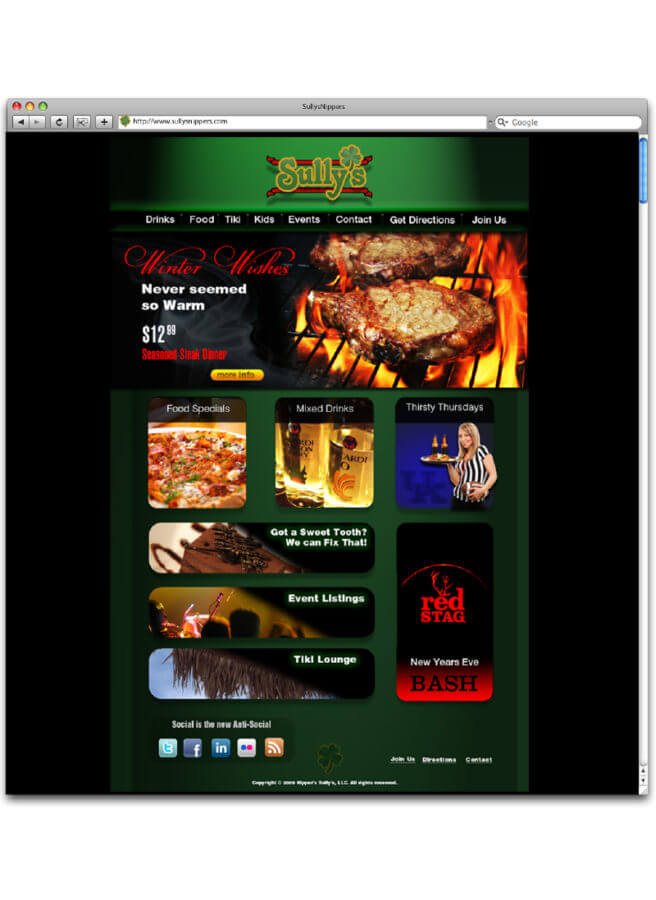 website design restaurant