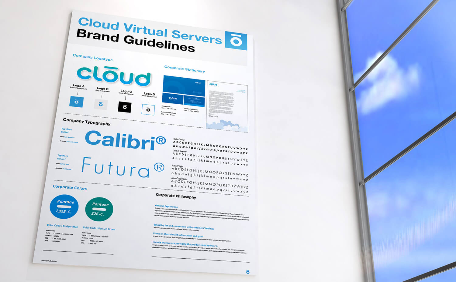 cloud virtual servers - Branded Poster