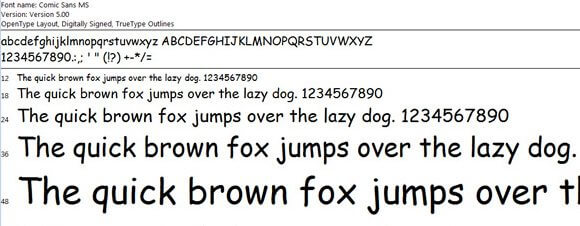 Can we really trust a Comic Sans font?