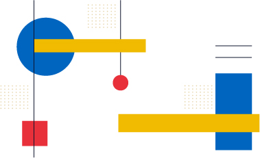 The Bauhaus approach to design makes simple shapes in graphic design consistent and relatable.