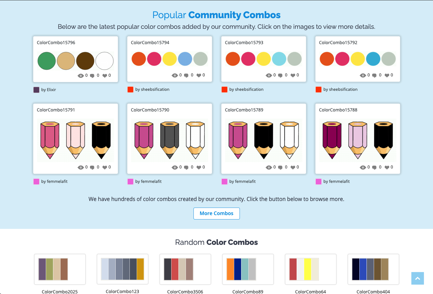 Color Combos tool