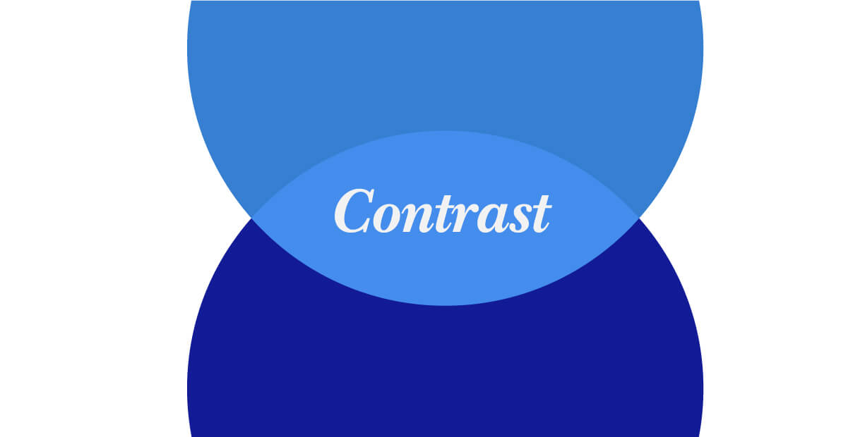 Laws of Graphic Design - Contrast