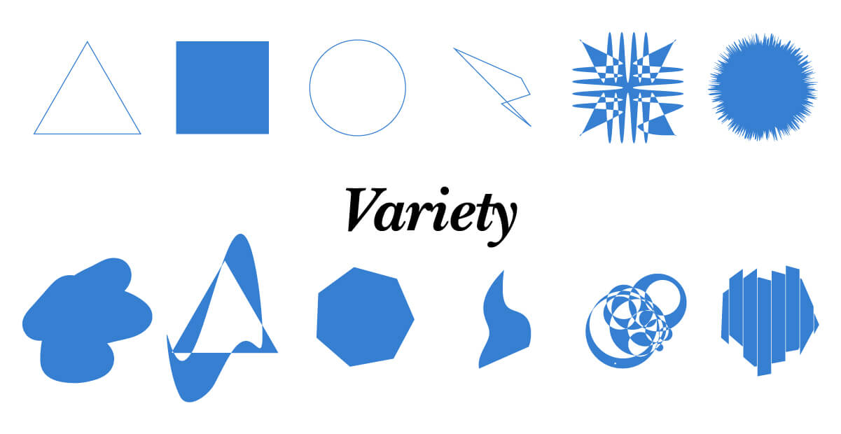 Laws of Graphic Design - Variety