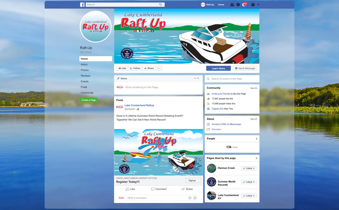 Event Raft Up Branding Facebook Page