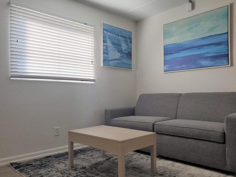 Esplanade Suites 2 bdr living room