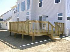 Large Capacity Treated Deck for Entertaining