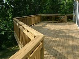 Gorgeous Treated Deck & Rail