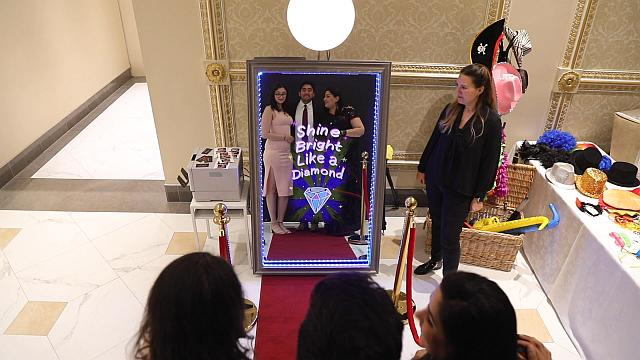 Magic Mirror Selfie Booth in Action