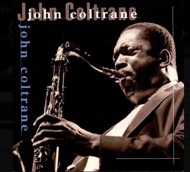 John Coltrane playing sax
