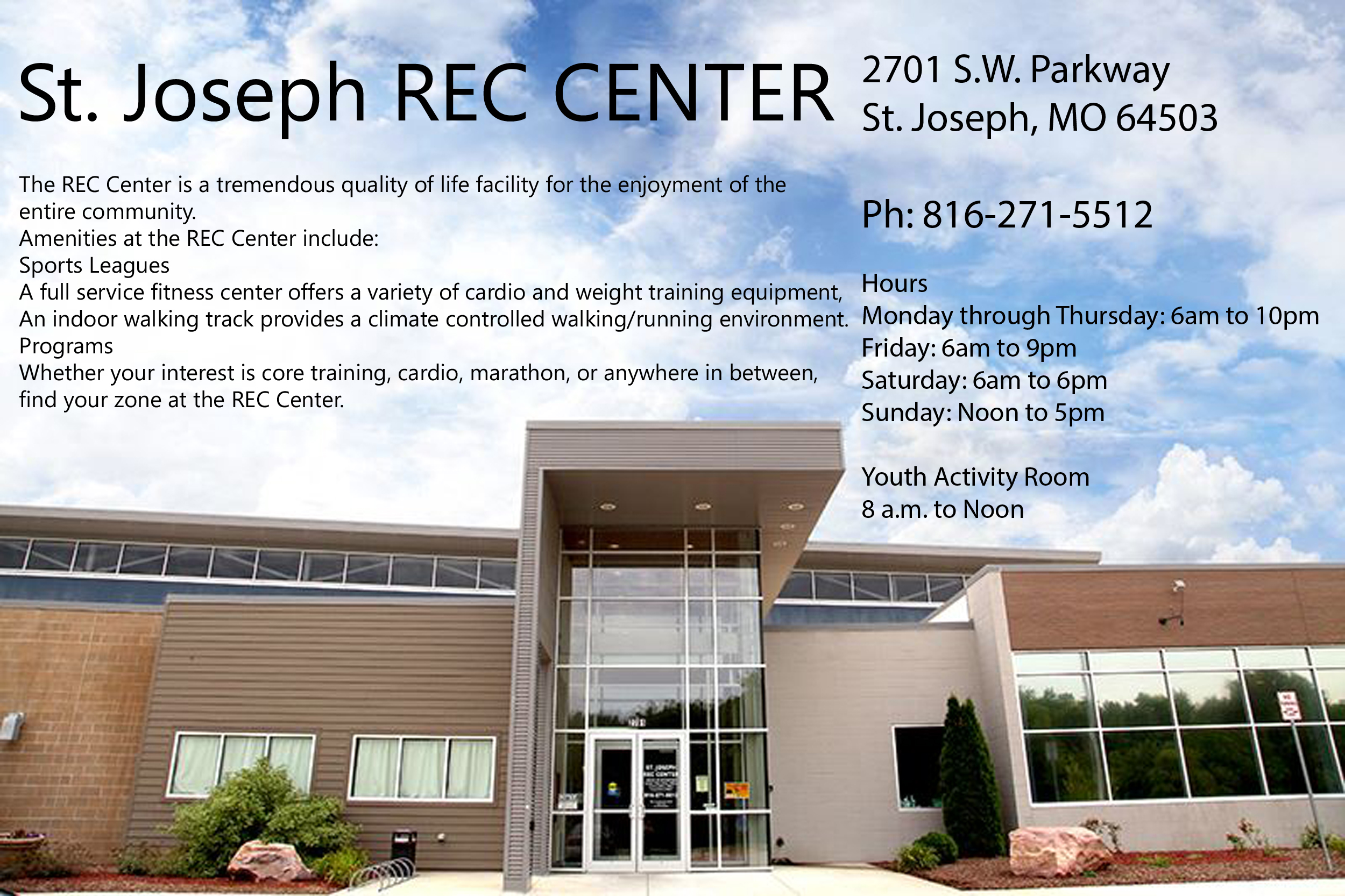 St Joseph REC Center photo and info