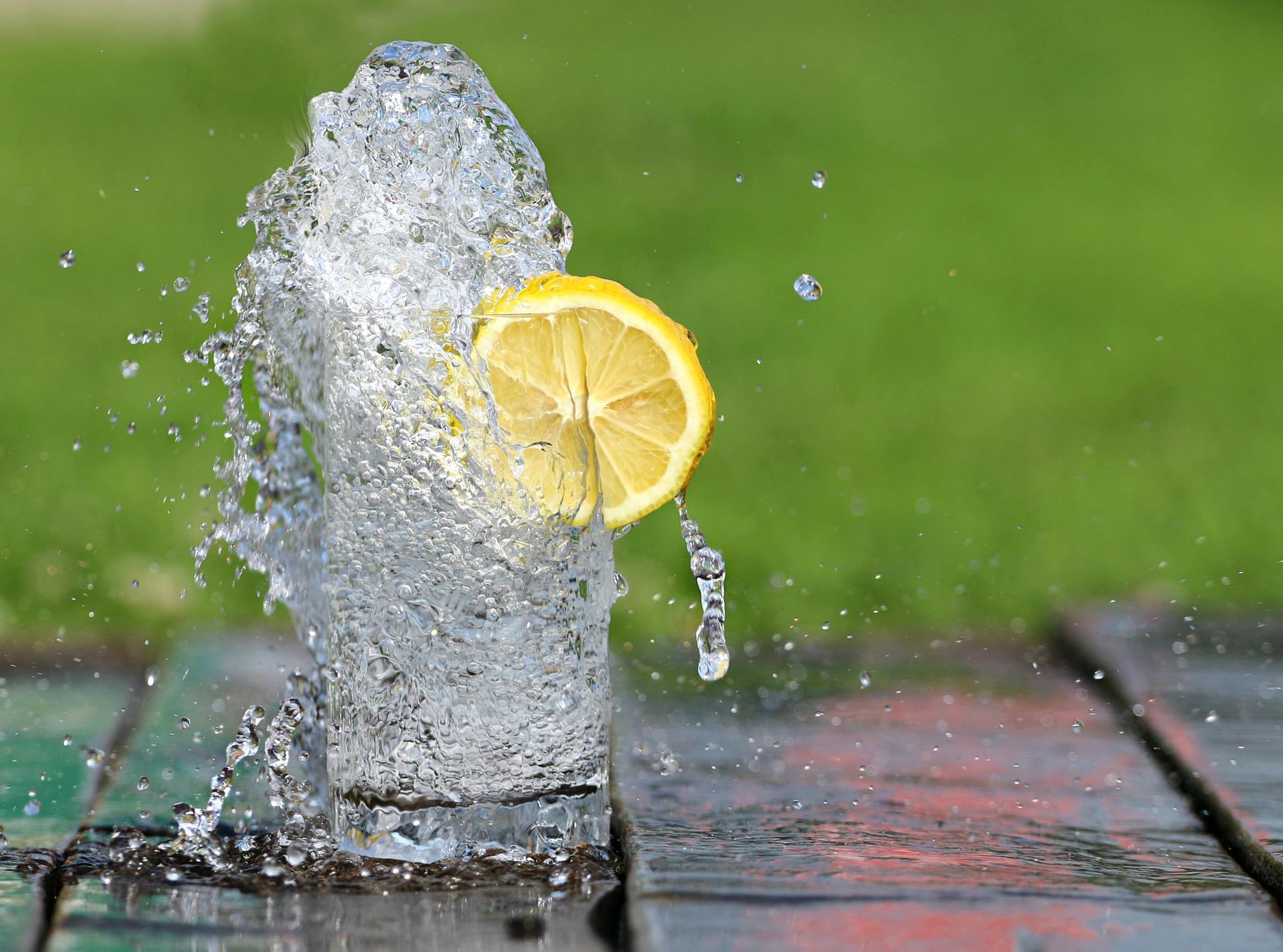 splashing cup of water