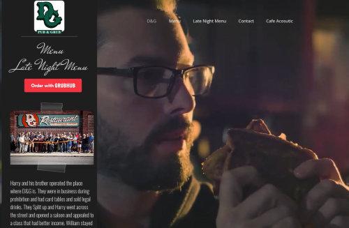 D&G Pub and Grub Web Page