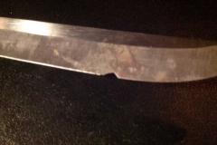 Pocket Knife Blade Repair Before
