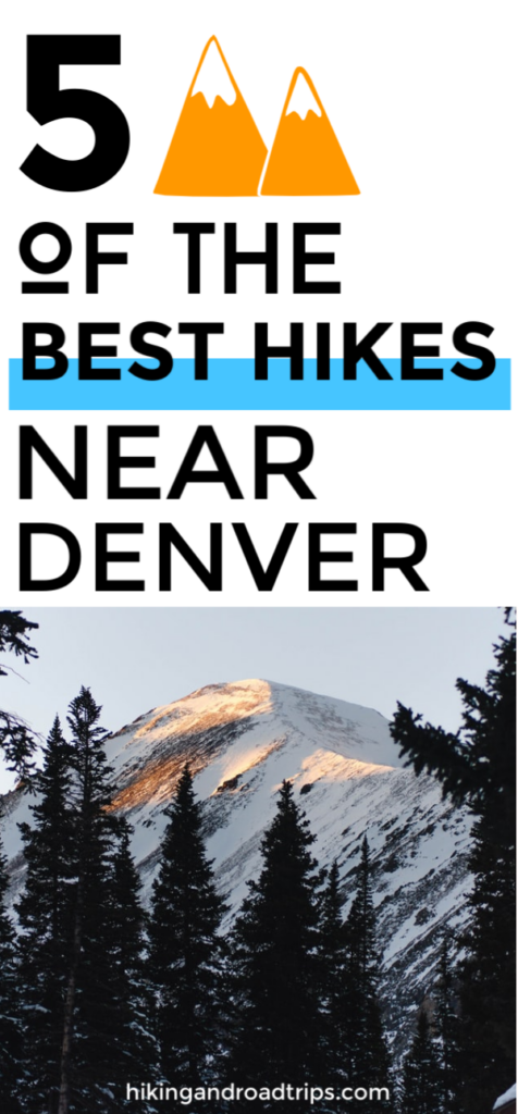5 best hikes near denver that the locals won't tell you about #hiking #besthikes #colorado #denver #traveltips #hikingtips #hikingtrails