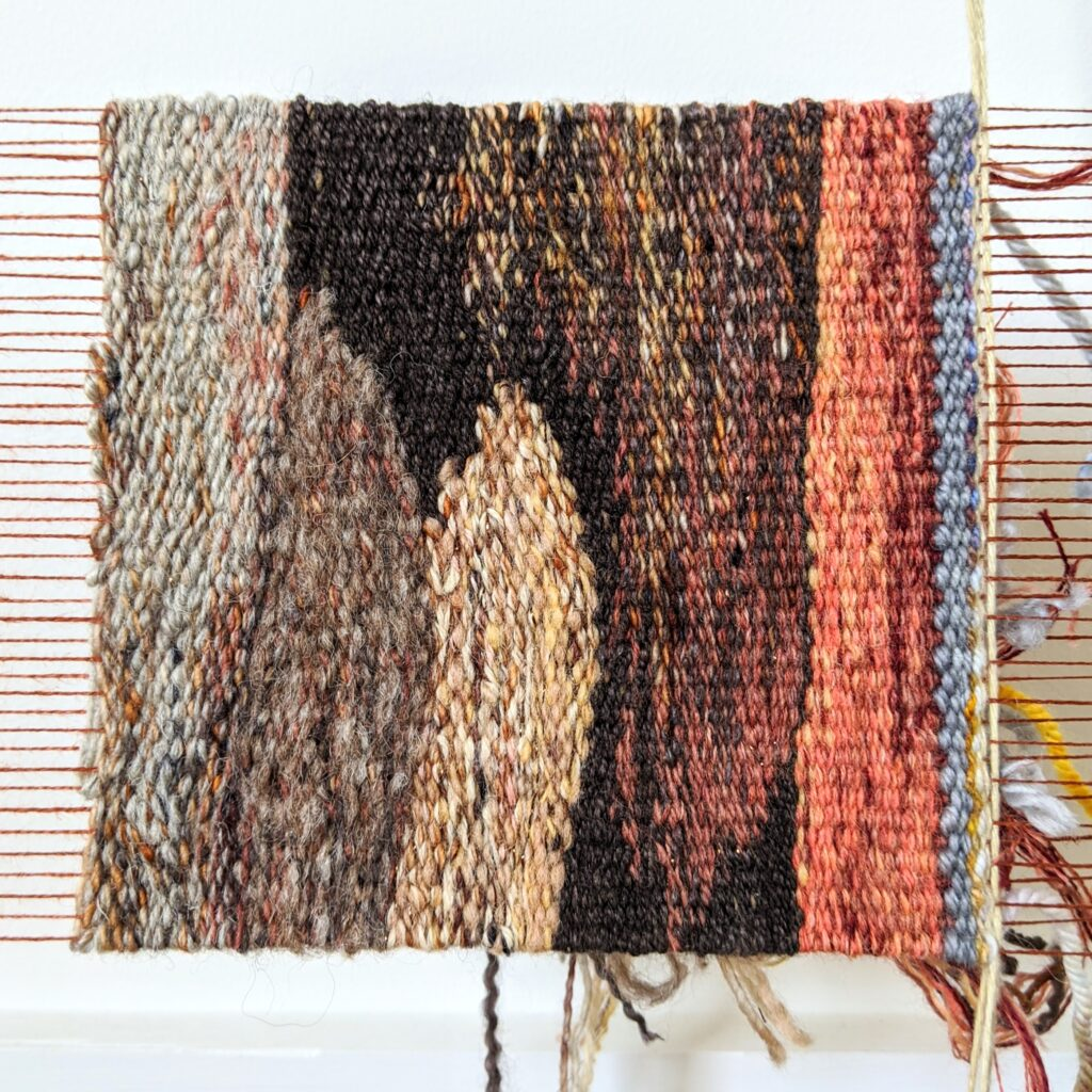 Completed weaving on Mount Buffalo B tapestry