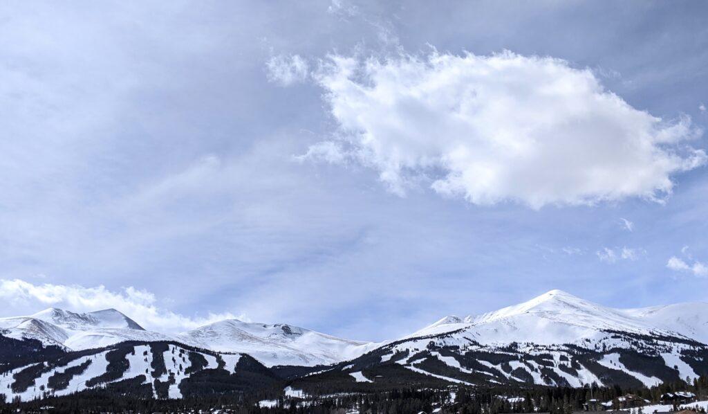View of mountain range at Breckenridge