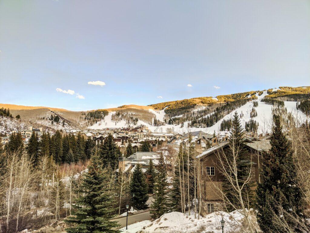 View of ski runs at Beaver Creek Resort