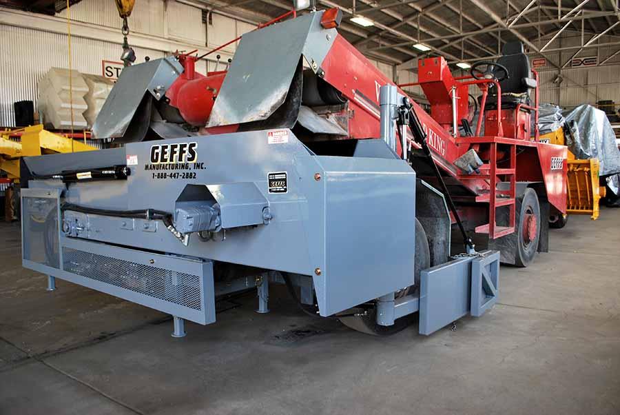 image of used chip spreader with side delivery system