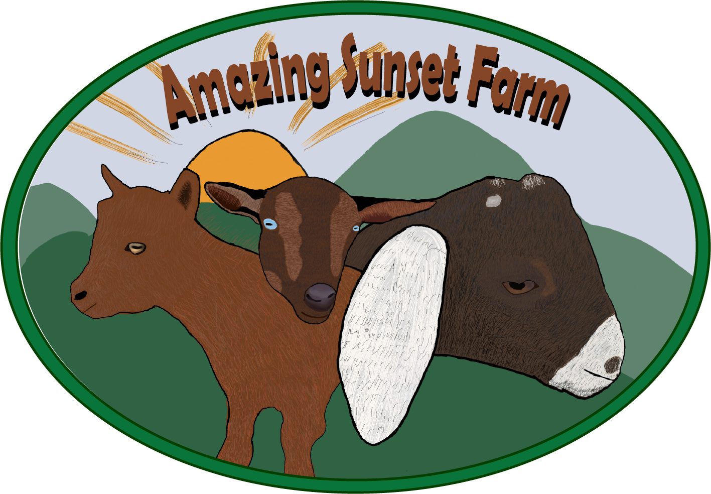 Amazing Sunset Farm