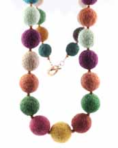 Felted Works of Necklace Art, by Artfelt Creations, Susan Kenna, Beverly MA
