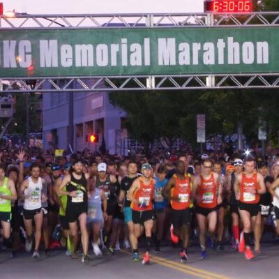Memorial Marathon Start Line