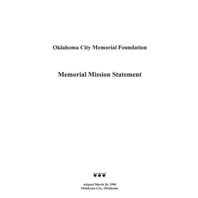Memorial Mission Statement